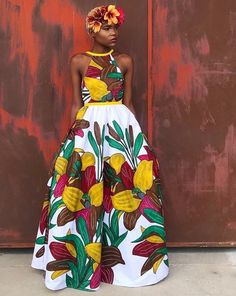 Chitenge outfits - African fashion can be seen in chitenge designs for ladies, men and children. From chitenge dresses, chitenge tops to chitenge tops Ankara Dress Styles, African Print Dresses, African Fashion Dresses, African Dress, Fashion Outfits, Ankara Fashion, Ghana Dresses, African Prints, Fashion Ideas