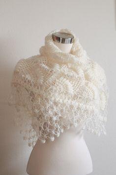 Bridal Shrug and Bolero Shawl // Winter Wedding  //Bridal accessories //  Bridal clothing / Crochet Shrug / Ivory Shrug