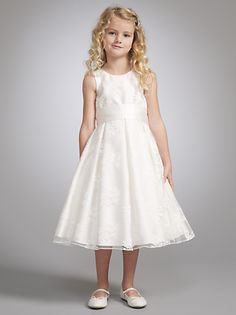 5e26d74e337d John Lewis Girls  Empire Line Lace Bridesmaid Dress
