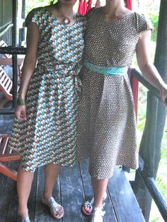 Colette patterns  - crepe dress (left) Variegated Butterfly from Across the Pond by Michelle Engel Bencsko for Cloud9 Fabrics