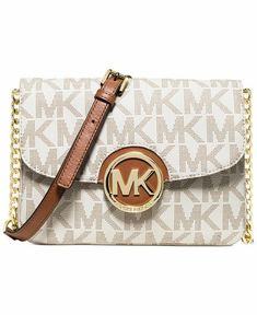 b30a6e056186b4 MICHAEL Michael Kors Signature Small Fulton Flap Gusset Crossbody #fashion # clothing #shoes #