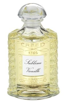 Creed 'Royal Exclusives - Sublime Vanille' Fragrance available at #Nordstrom $710.00 Item #985964 Notes: - Top: vanilla from climbing orchids of Tahiti, heady bourbon vanilla from South America. - Middle: tonka bean. - Base: bergamot orange, Calabrian lemon, rare musk. 8.4 oz. By Creed.