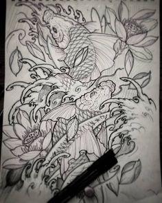 Next project #chronicink #sketch #art #irezumi #illustration #drawing