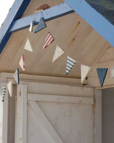 seaside wooden flag bunting - sold out