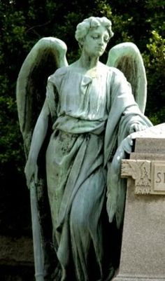 ☫ Angelic ☫ winged cemetery angels and zen statuary - Cemetery Angels, Cemetery Statues, Cemetery Art, Angels Among Us, Angels And Demons, Statue Ange, I Believe In Angels, Mystique, Angels In Heaven