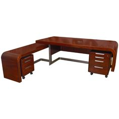 Mid Century Custom Rosewood Executive Desk System by Sibast Mobler | See more antique and modern Desks and Writing Tables at http://www.1stdibs.com/furniture/tables/desks-writing-tables