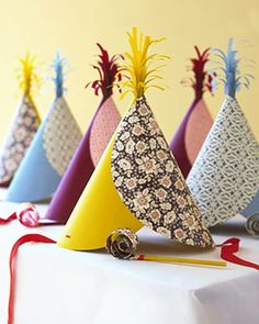 #DIY Party Hats -- so fun!