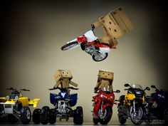 Danbo Dirt Bike Jump! It seems that my Danbo is really getting more extreme with her motorcycle stunts!