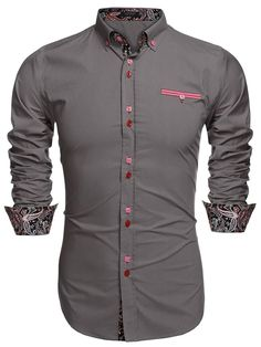 Men's Fashion Slim Fit Shirts Coofandy Dress Shirt Casual Shirt Cotton Blend Material: Cotton Style: Fashion, Casual The shirts size is USA size Brand: Coofandy Slim Fit Dress Shirts, Slim Fit Dresses, Fitted Dress Shirts, Shirt Dress, Casual Button Down Shirts, Casual Shirts, Stylish Shirts, Men's Shirts, Button Shirts