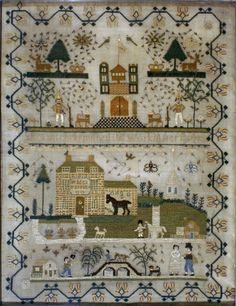 Eliza Mitchell, age 13, 1823,  English I want to stitch something like this! Love!