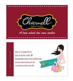 Cartão de visita - Charmell www.charmell.com.br