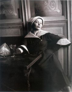 Bettina ( Simone Micheline Bodin ) by Henry Clarke  - For Jacques Faith - 1949 - French model turned fashion muse inspired designers like Givenchy and Dior, as well as posing for iconic photographers like Henri Cartier-Bresson, Jean-Philippe Charbonnier, Irving Penn, and Henry Clarke.