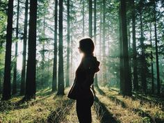 girl in forest - Google Search