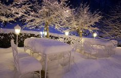 Weihnachtszeit auf der Terrasse - White christmas in Bavaria - http://www.riessersee.com/