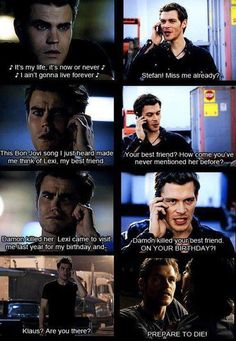 Haha, Klaus and Stefan`s friendship... The Vampire Diaries