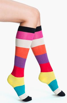 kate spade new york rugby stripe knee socks (2 for $22) love all of the fun colors!