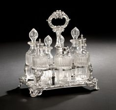 Victorian Silverplate Cruet Frame, second quarter century,