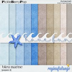 BLEU MARINE PAPERS 3 By Regina Falango