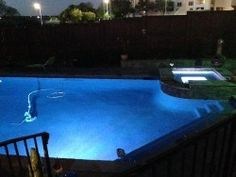 Pool Light Installation - Get your swimming pool ready for the summer with color changing LED pool lights. Call the experts at 817-424-2684.