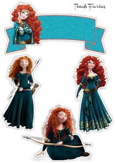Brave Merida, Disney Princess Merida, Brave Disney, Imprimibles Toy Story Gratis, Cupcakes Decorados, Writing Paper, Printables, Cartoon, Stickers