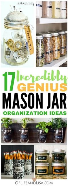 These DIY geniuses share their favorite ways to organize their homes with mason jars. Check out this post to see what's in store!