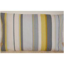 "20"" x 12"" Oblong Bolster Cushion Cover Yellow Mustard Saffron Grey White Striped"