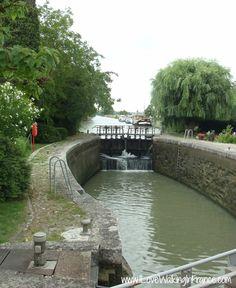 Écluse de Treboul on the Midi Canal, France