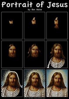 Ben Heine ~ Portrait of Jesus