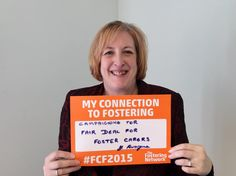 Yvonne Fovargue, MP for Makerfield in Wigan, campaigning for a fair deal for foster carers #FCF2015