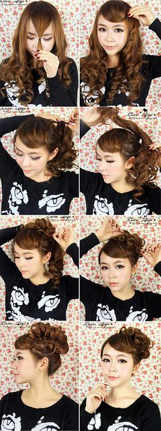 Easy CurLY UpdO TutOrial
