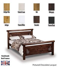 Stunning,solid pine super kingsize bed frame hand made and finished in a colour of your choice.High quality materials and expert craftsman create this superior collection.FREE Express Delivery.