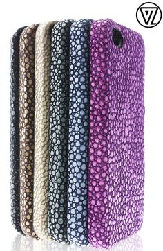 Valenz Handmade Embossed Croc Leather iPhone Cases- Purple please!!