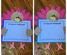 No Turkey on Thanksgiving?! Students write a persuasive piece to their families convincing them to have something other than turkey on Thanksgiving