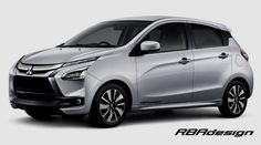 RBA Design guess the Mitsubishi Mirage with Dynamic Shield Design tagline. This could be the next generation Mitsubishi Mirage. Mitsubishi Cars, Mitsubishi Mirage, Shield Design, City Car, Black Accents
