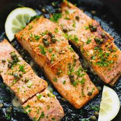 There are several baked salmon recipes because baked salmon is very versatile. So, this article discusses a few of the popular baked salmon recipes starting with the oven baked salmon. Oven Baked Salmon, Baked Salmon Recipes, Shrimp Recipes, Grilled Tilapia, Salmon Recipe Cast Iron, Cast Iron Recipes, Key Lime Curd Recipes, Dutch Oven Whole Chicken
