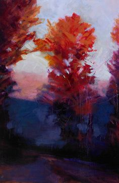 """Red Tree"" by Julia Jensen, oil on panel, 21 x 14, $1800 framed"