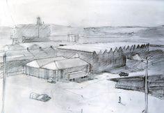 Falmouth Docks, pencil