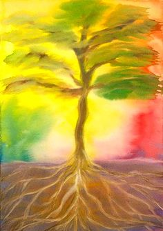 Programs to work artistically, socially and philosophically with the work of Rudolf Steiner and others Kids Watercolor, Watercolor Trees, Watercolour Painting, Rudolf Steiner, Wet On Wet Painting, Crayon Drawings, 6th Grade Art, Prophetic Art, Sacred Art