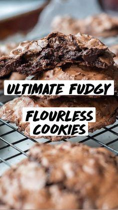 Delicious Cookie Recipes, Fun Baking Recipes, Easy Cookie Recipes, Healthy Dessert Recipes, Sweets Recipes, Easy Desserts, Vegetarian Desserts, Yummy Food, Free Recipes
