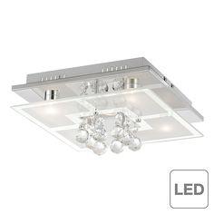 EEK A++, LED-Deckenleuchte Chiron - Chrom/Glas - Silber, Paul Neuhaus Jetzt bestellen unter: https://moebel.ladendirekt.de/lampen/deckenleuchten/deckenlampen/?uid=453e2445-9678-5e90-bca5-06f46e4d1c74&utm_source=pinterest&utm_medium=pin&utm_campaign=boards #deckenleuchten #lampen #innenleuchten #deckenlampen #paul #neuhaus