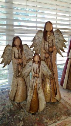 Cyprus and metal carved angels