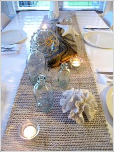 Coastal Inspired tablescape