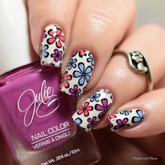 Julie G Spring Trio Two nail art