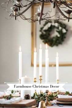 Farmhouse Christmas Table Decor. DIY Decor.