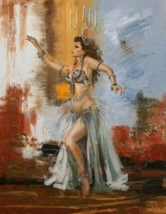 Browse through images in Corporate Art Task Force's Belly Dancers collection. The focus of this gallery is exclusively on belly dancers; a traditional middle-eastern ethnic dance style (made most popular by the renowned singer: Shakira). Bd Art, Dance Paintings, Painting Art, Exotic Dance, Belly Dance Costumes, Belly Dancers, Egyptian Art, Female Art, Unique Art