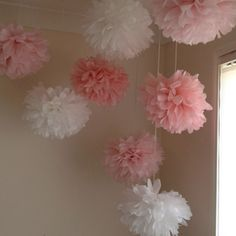 After making these Pom Poms for my baby shower decorations. My daughter wanted them in her room :) such a cheap and easy way to decorate a girls room.