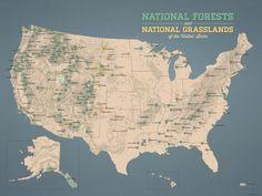 US National Parks Map X Print Park - Us national parks road trip map
