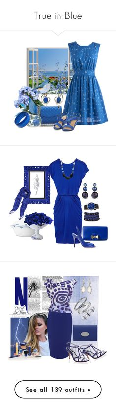 """""""True in Blue"""" by greenify13 ❤ liked on Polyvore featuring Emily and Fin, Rebecca Minkoff, Pearlz Ocean, women's clothing, women, female, woman, misses, juniors and Royal Copenhagen"""