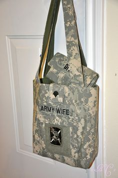 Army Wife Purse & Wallet set by HomeFrontCouture on Etsy, $62.00