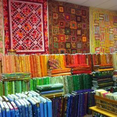 Rainbows End - Dunedin Florida. This picture reminded me that sometimes I'd like to own a fabric store. :)